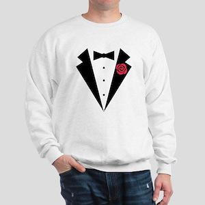 Funny Tuxedo [red rose] Sweatshirt
